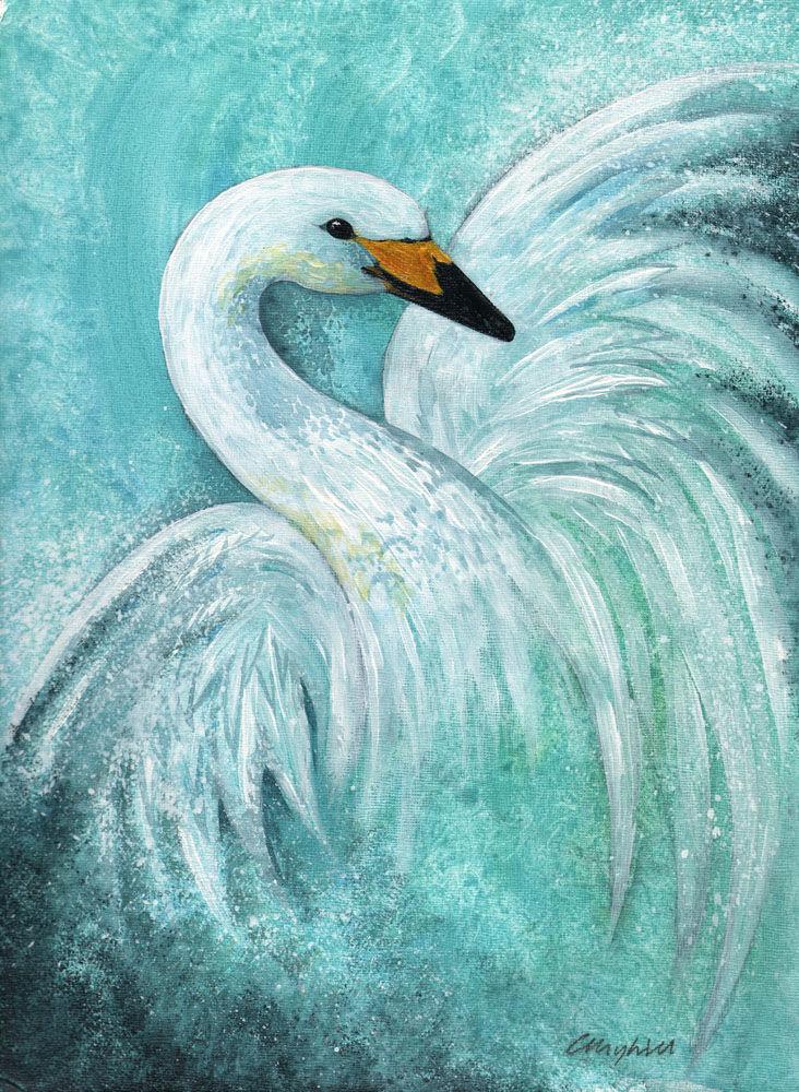 Dandelion Designs:- Cathy Myhilll - Snow Queen (Framed) £350
