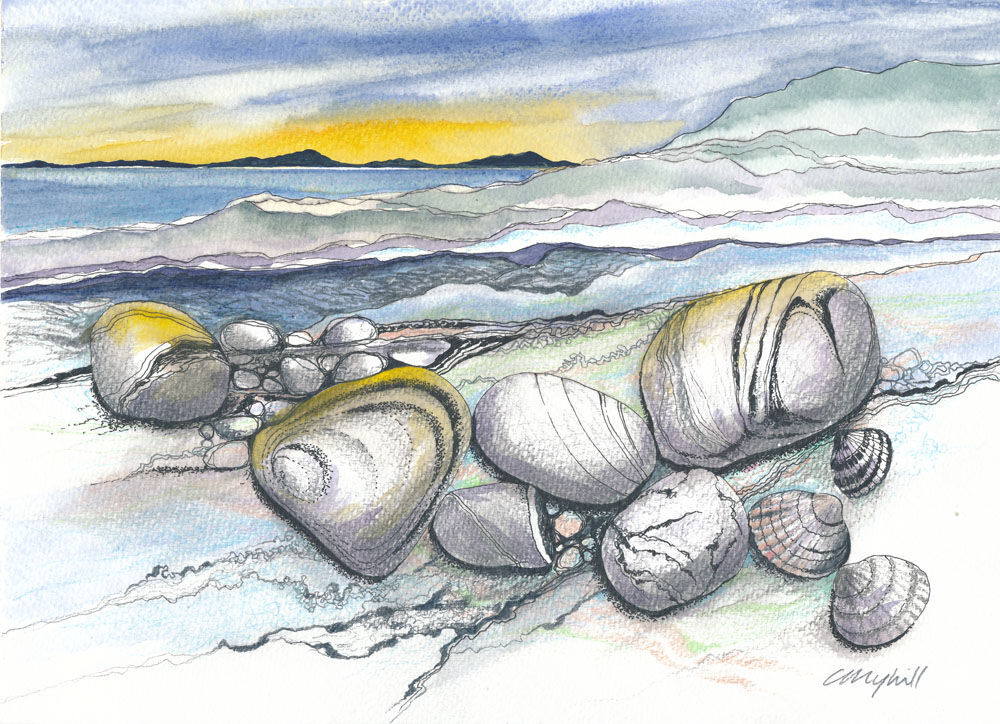 Dandelion Designs:- Cathy Myhilll - View from Coral Beach