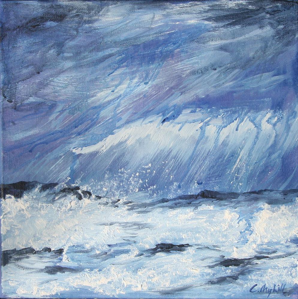 Dandelion Designs:- Cathy Myhilll - Wild Tide (Framed) £120