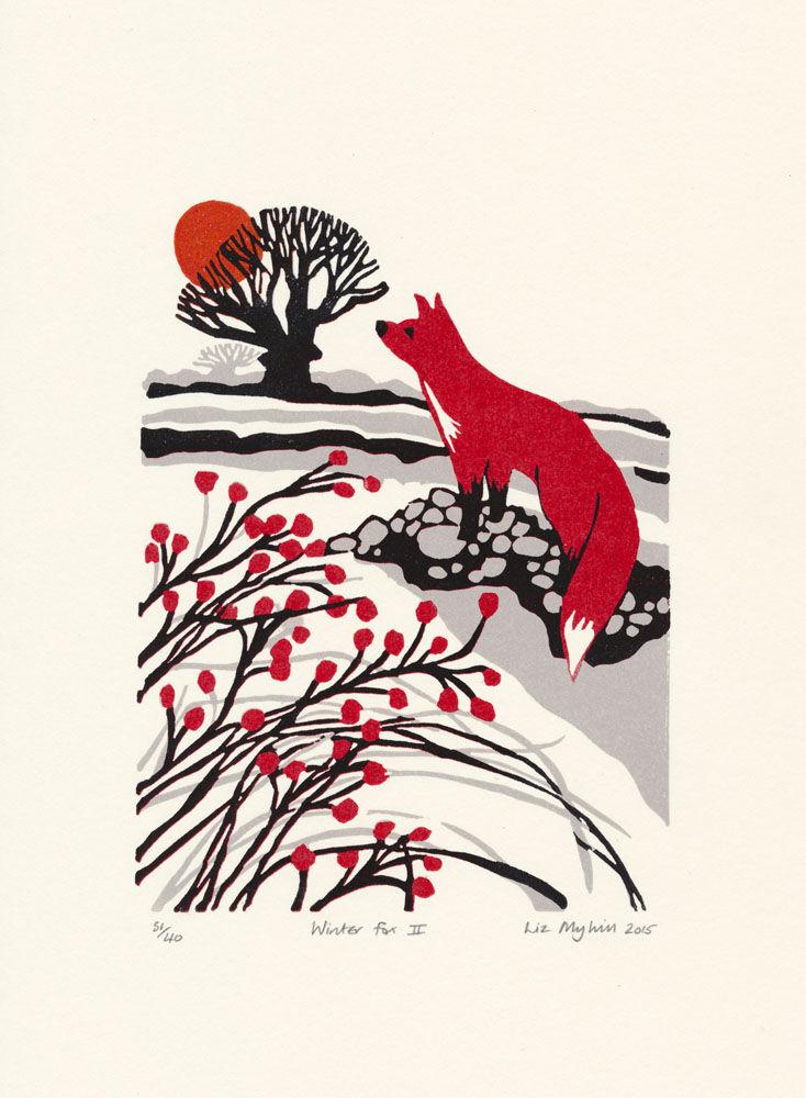 Dandelion Designs - Liz Myhill: Winter Fox II £90