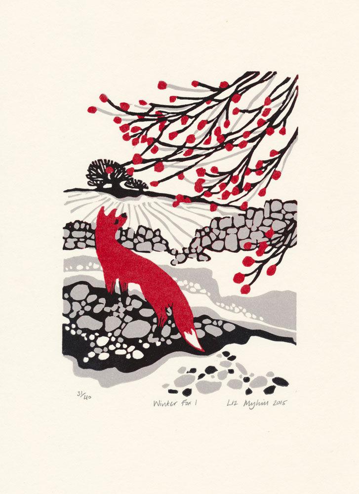 Dandelion Designs - Liz Myhill: Winter Fox I £90