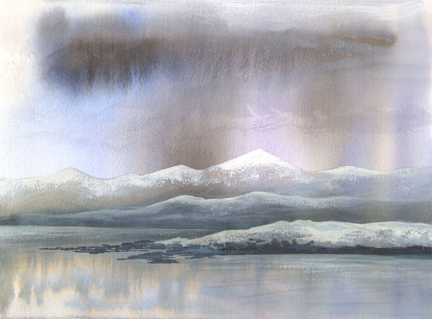 Dandelion Designs:- Cathy Myhilll - Winter Reflections (Framed) £250