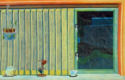A Room With a View, oil on paper, 26.5cm x 41cm