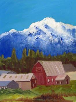 American Dream, oil on canvas, 46cm x 61cm