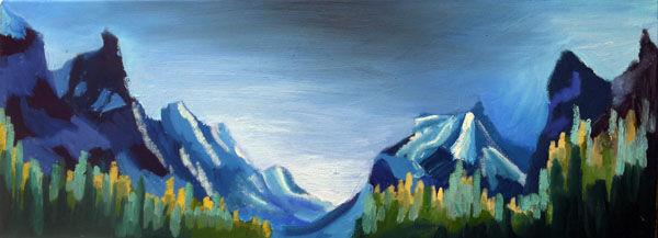 Banff National Park, oil on canvas, 30cm x 80cm, 06,11,2019