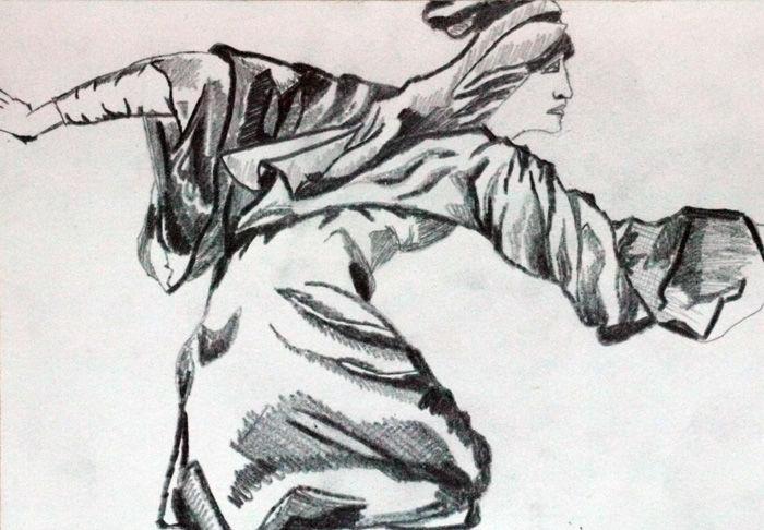 Burne-Jones 05, 6in x 8in, graphite pencil, 26,10,2019