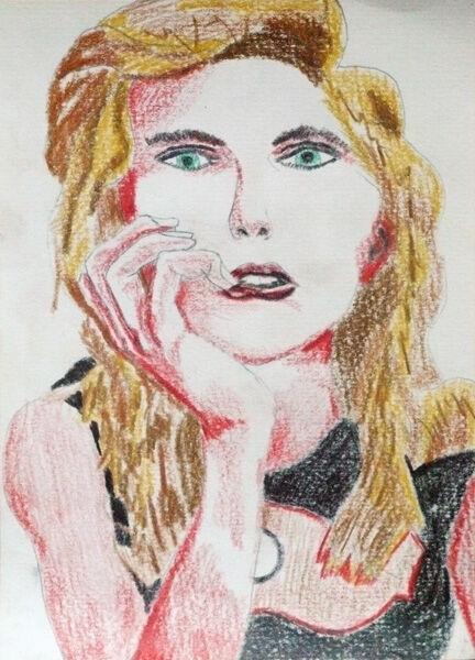 Chloe Grace Moretz, 15cm x 20.5cm, coloured pencil