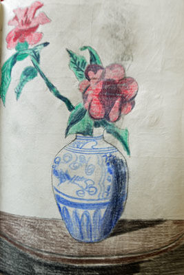 Classic Still-Life, 6in x 8in, coloured pencils