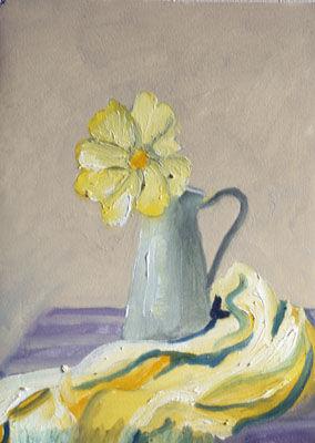 Daisy, 23cm x 30.5cm, oil on arches paper