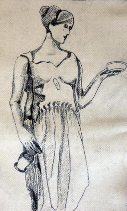 Diana, 24cm x  30.5cm, charcoal pencil