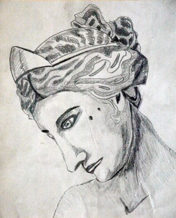 Dianid, 8in x 10in, charcoal pencil