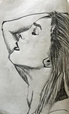 Emma Watson, 15cm x 20.5cm, charcoal pencil