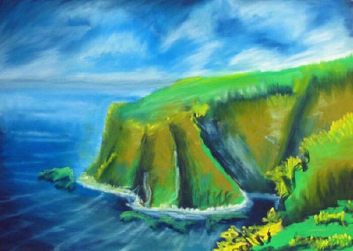 Findon Point, 50cm x 80cm, pastel,