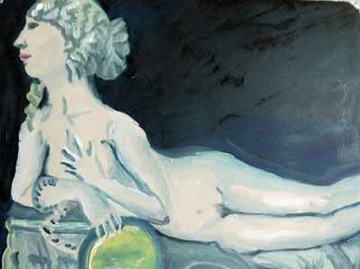 Flapper Venus, 30.5cm x 40.5cm, oil on arches paper