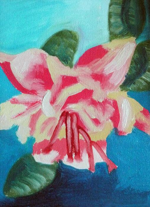Fuschia, oil on canvas, 18cm x 24cm, 25,09,2019