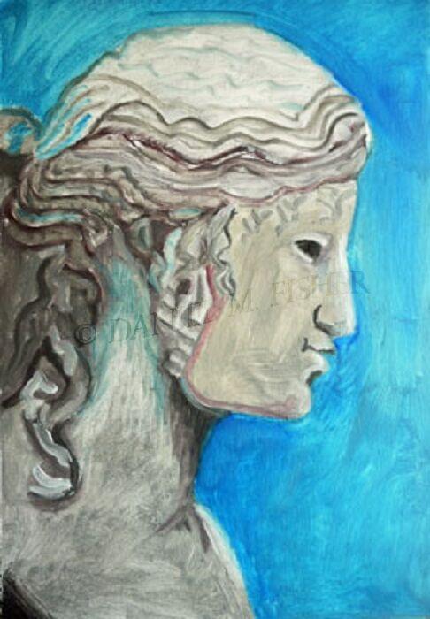 Gurning Girl, 46cm x 61cm, oil