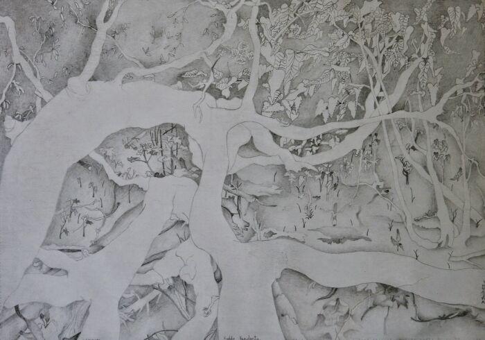 Haddo Residents, 21cm x 29cm, 2004, graphite pencil