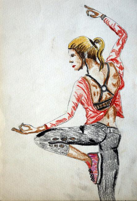 In Balance, 06,2020, coloured pencils, 15cm x 20.5cm