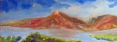 Loch Torridon, oil on canvas, 30cm x 80cm