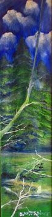 Longevity, 2006, 25cm x 100cm, oil