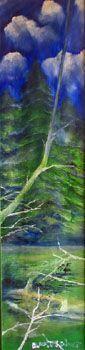 Longevity, oil on canvas, 25cm x 100cm, 20,12,06