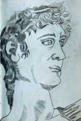 Michelangelo, 11.5cm x 18cm, charcoal pencil