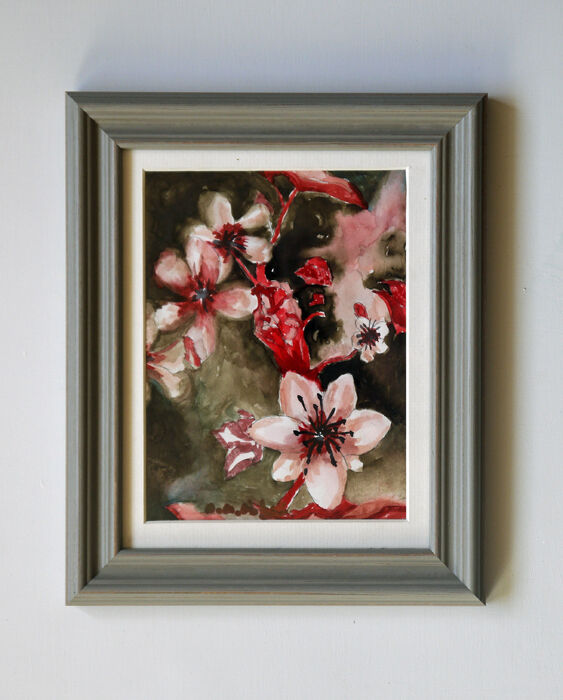 Pink Blossom, 2021, 15cm x 20.5cm, watercolour