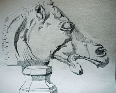 Plate 1,37. 9in x 12.5in, charcoal pencil