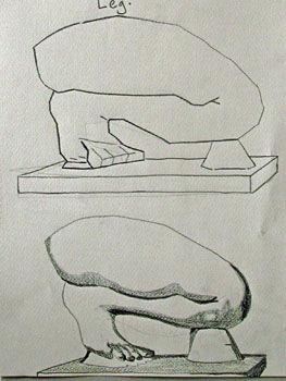 Plate 28. charcoal pencil, 24cm x  30.5cm