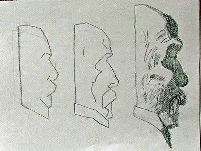 Plate 32. charcoal pencil, 24cm x  30.5cm