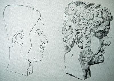 Plate 38. charcoal pencil, 24cm x  30.5cm