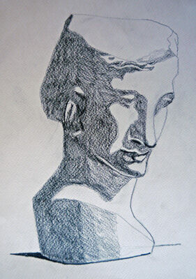 Plate 44. charcoal pencil, 24cm x 30.5cm