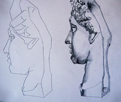 Plate 45. charcoal pencil, 24cm x 30.5cm