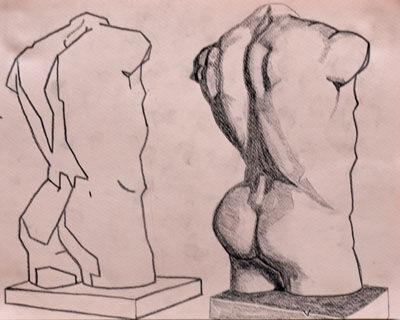 Plate 60. charcoal pencil, 24cm x 30.5cm