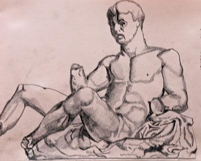 Plate 61. charcoal pencil, 24cm x 30.5cm