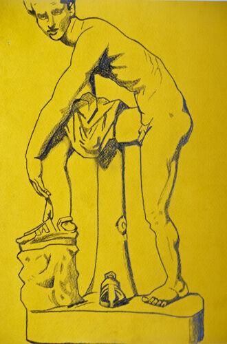 Plate 67. charcoal pencil, 24cm x  30.5cm