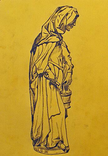 Plate 70. charcoal pencil, 24cm x  30.5cm