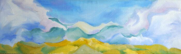 Poise, 22,03,2021, 30cm x 100cm, oil on canvas