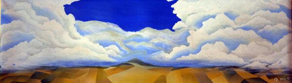Poise, oil on canvas, 30cm x 100cm