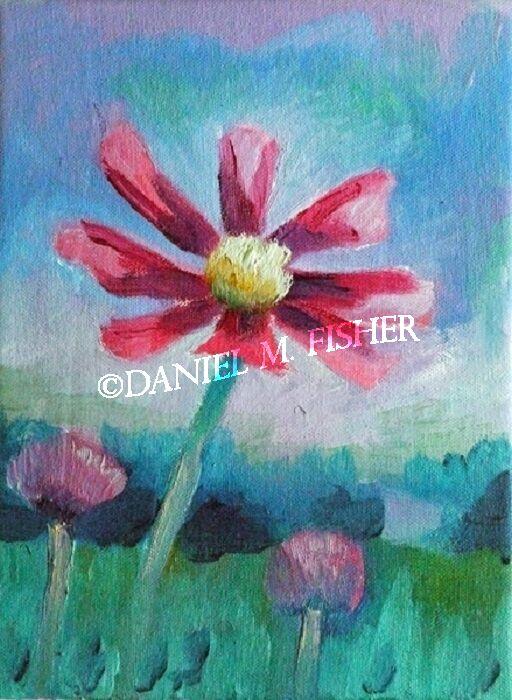 Poppy Field, 18cm x 24cm, oil