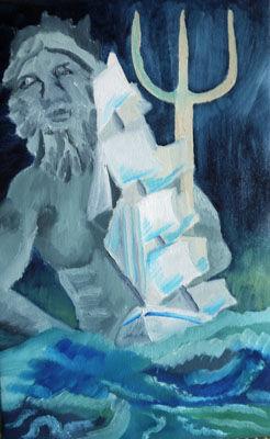 Posiedon, 35.5cm x 56cm oil on canvas