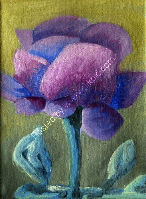 Purple Rose, 2020, 18cm x 24cm, oil