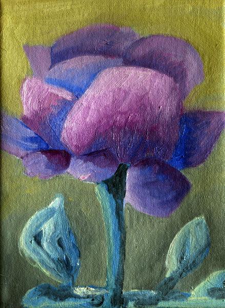 Purple Rose, oil on canvas, 18cm x 24cm, 16,10,2020