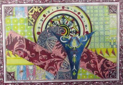 Renaissance Decoration, watercolour, 14cm x 20cm, 06,01,2006