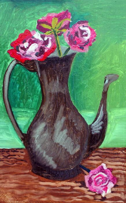 Roses and Jug, 2019, 25.5cm  x 40.5cm, oil