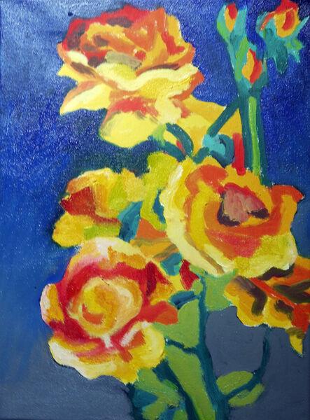 Roses, oil on canvas, 30,5cm x 40,5cm, 26,01,2021