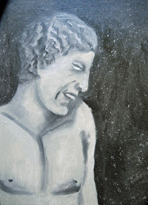 Satyr, 12in x 16in, oil on board