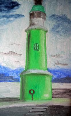 Scandinavian Light, oil on board, 25.5cm x 40.5cm