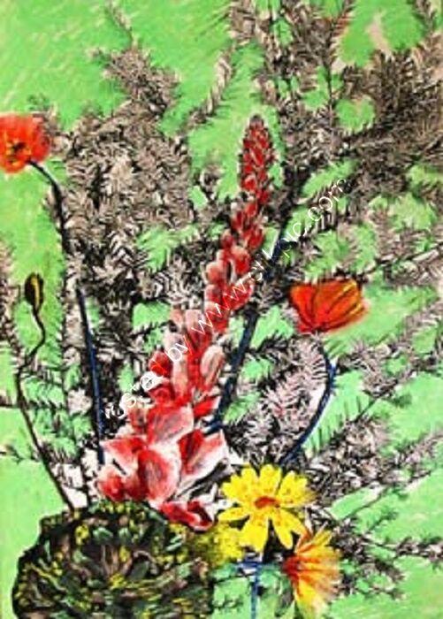 Spring Bouquet, 30.5cm x 40.5cm, mixed media