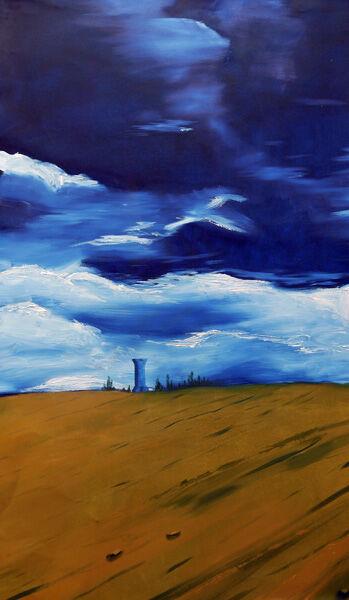 Standing, oil on canvas, 49cm x 83cm, 05,11,04